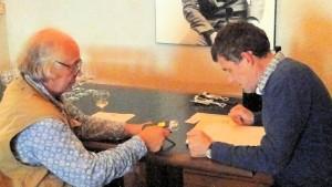 Charles Ducal met Eddy Bonte.
