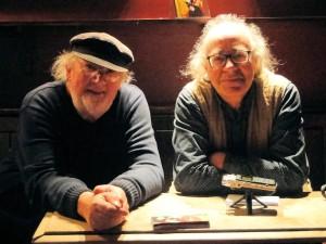 John Renbourn with Radio 68's Ed at The Half Moon, Putney, March 2014. PicturebyEddyBonte