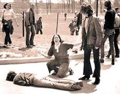 Kent State University, Ohio, 4 May 1070: 67 bullets fired in 13 seconds killed four and wouded 9 students