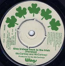Give Ireland back to the Irish single